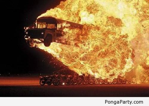 burning school buses are a great way to start a novel